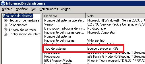 msinfo32 de W2003