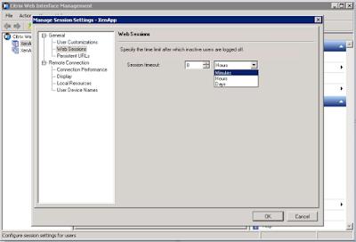Bagaimana cara setting Web session limit pada Xen App Website