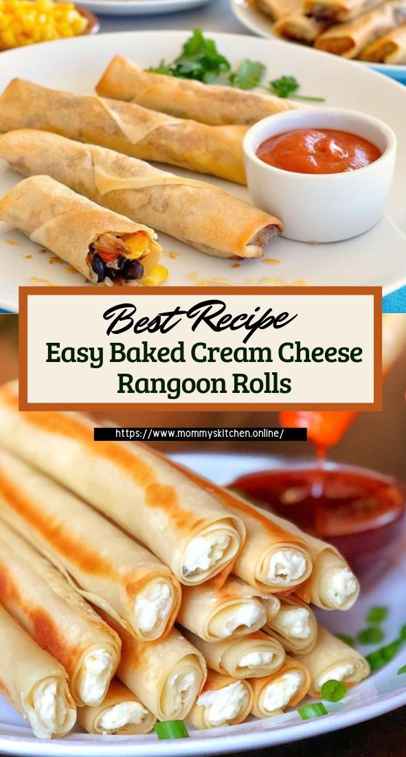 Easy Baked Cream Cheese Rangoon Rolls #healthyfood #dietketo #breakfast #food