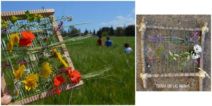 manualidad infantil creativa primavera: tapíz de flores