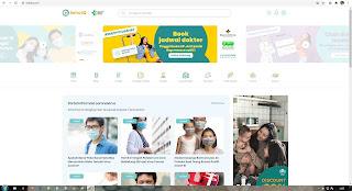 Tampilan layar situs SehatQ.com