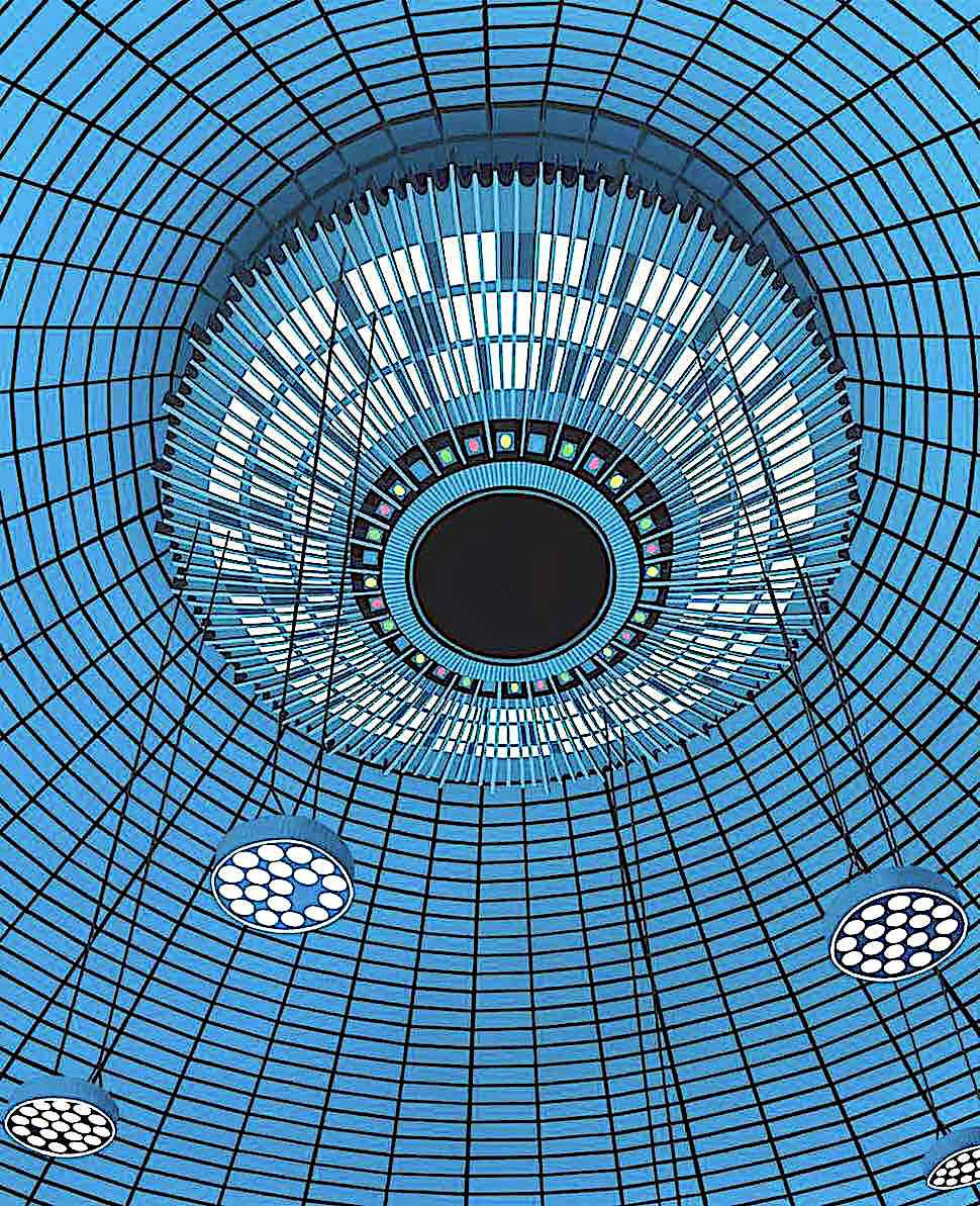 Daniel Rich art, a blue ceiling top