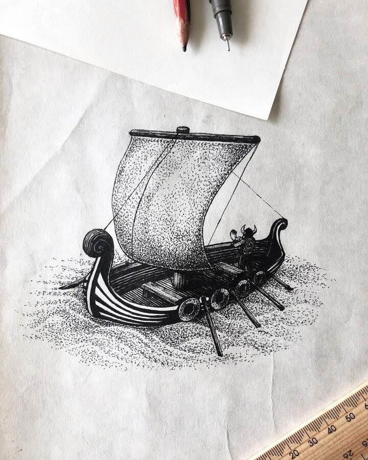 10-Viking boat-Olly-www-designstack-co