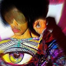 Prince - Free Urself Single with Art by Spencer J. Derry on the tunic.