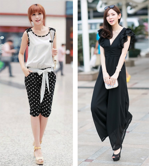 model baju jumpsuit korea