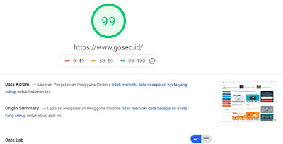 Hasil Test Google Insight GoSEO.id