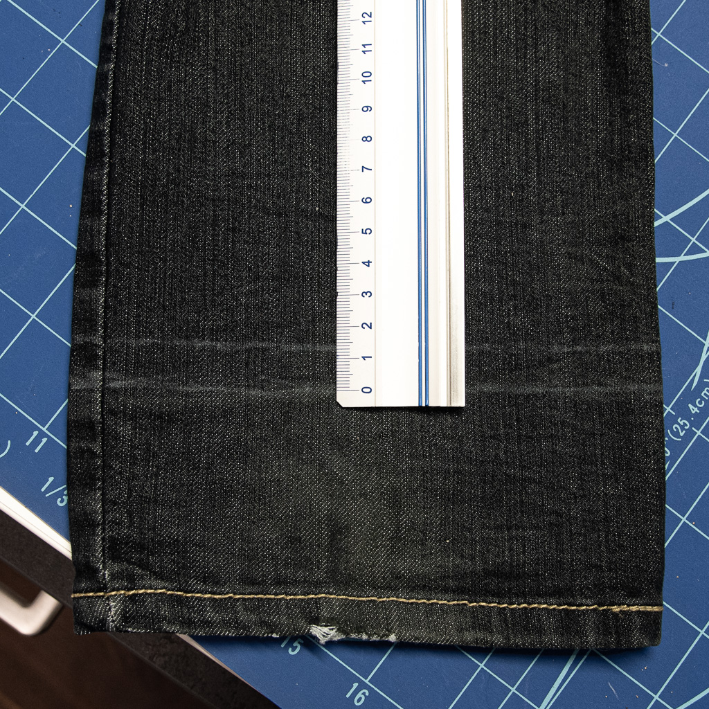 minn's things faulty fashion how to shorten jeans pants tutorial saving original hem step 3 transfering