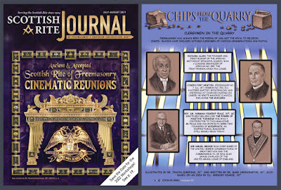 Scottish Rite Journal. July/August 2021. Chips from the Quarry. Art by Travis Simpkins