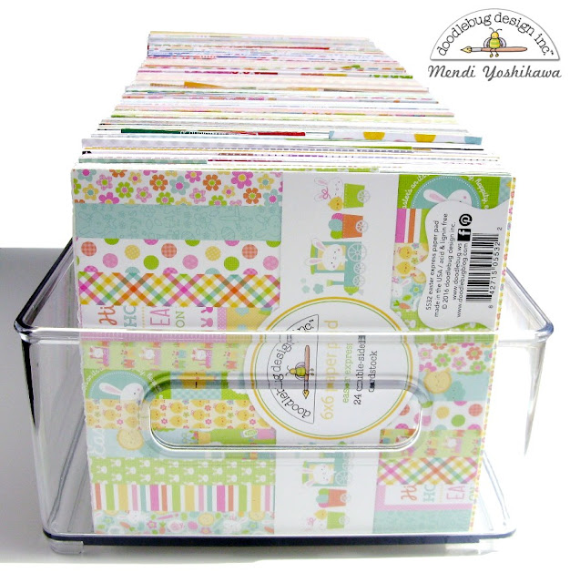 Ways to Organize Your Doodlebug 6x6 Paper Pads by Mendi Yoshikawa