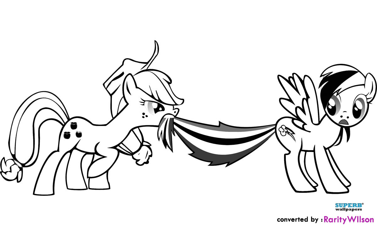 Applejack And Rainbow Dash Coloring Pages | Coloring Pages