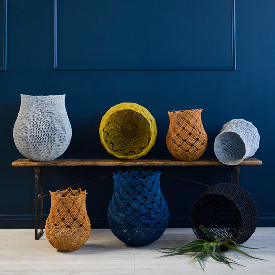 Safari Fusion blog >< [In store] Crochet Baskets | Modern Tribal 2018 collection | Just in >> a curated collection of African objects, fine art photography, baskets and felt art by Safari Fusion| Image © Safari Fusion