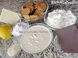 Cheesecake fara coacere cu ciocolata ingredientele necesare prepararii retetei