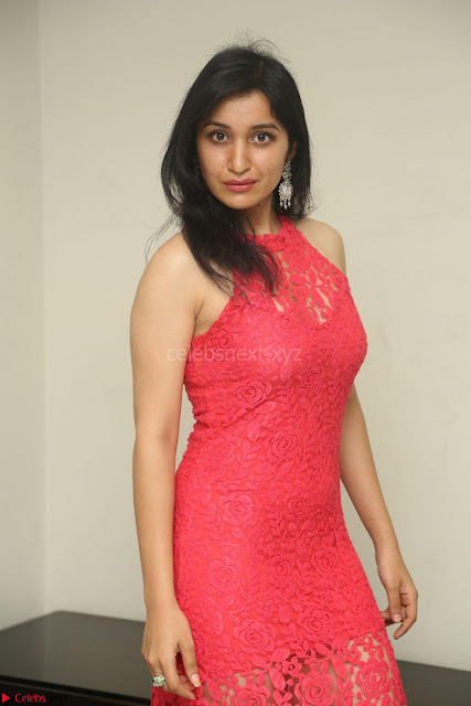 Sakshi Kakkar in Red Legsplit Sleeveless Gown at Dare movie Press meet ~  Exclusive 013.JPG