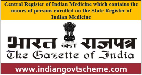 State Register of Indian Medicine