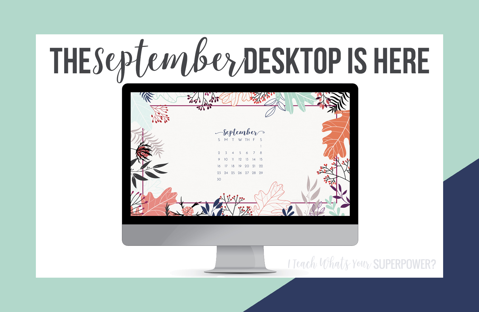 • August 2018 • Computer Desktop Calendar Background and matching iPhone Backgrounds
