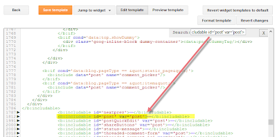 kode html template