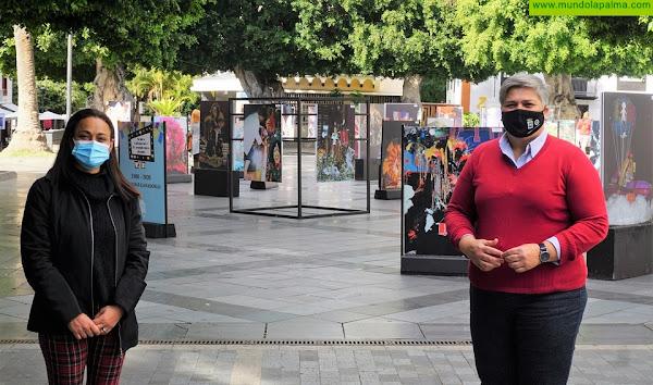 El Carnaval de Los Llanos de Aridane sale a la calle con una exposición de fotografías de gran formato