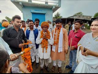 जिला उपाध्यक्ष बनने के बाद शेरसिंह मालवीय का पैतृक गांव पहुंचने पर हुआ भव्य स्वागत