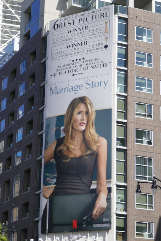 Marriage Story Laura Dern Oscar nominee billboard