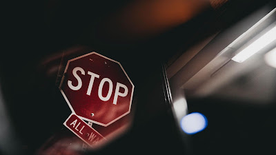 Stop, sign, warning, red