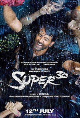 Poster Super 30 2019 Hindi HD 300MB