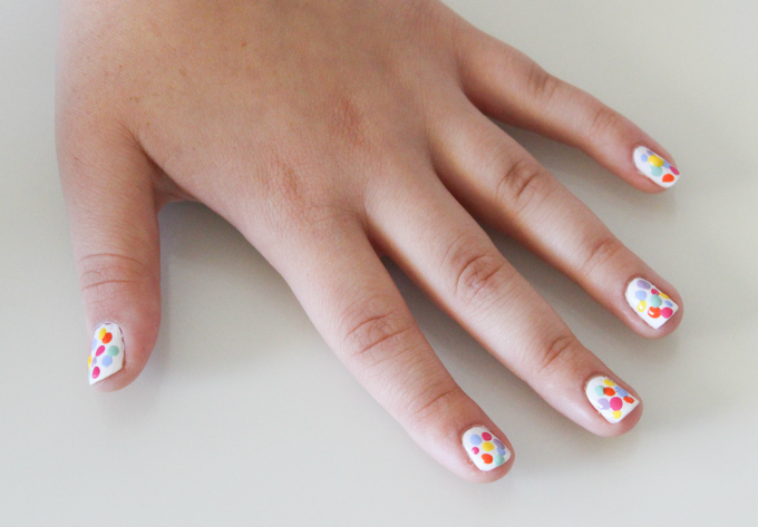 Spotty Easter Egg Nail Art | Cate Renée