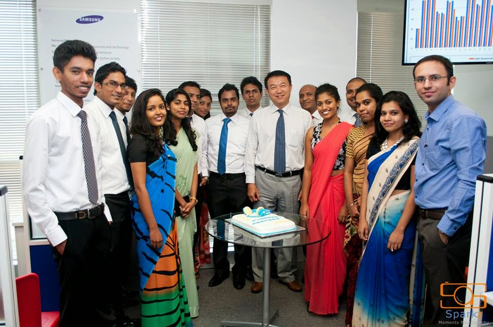Staff of the newly opened Samsung contact center.