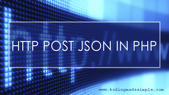send http post json in php