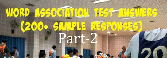 Word Association Test in SSB: Practice Set 2