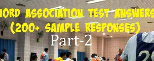 WAT Test in SSB: 100+ Real Words with solution Set 2
