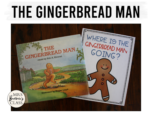 Gingerbread Man book study activities unit with Common Core aligned companion activities, craftivity, and class book for Kindergarten and First Grade