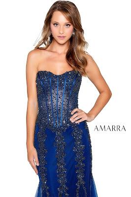 Corest Bodice Prom dress Navy Blue color