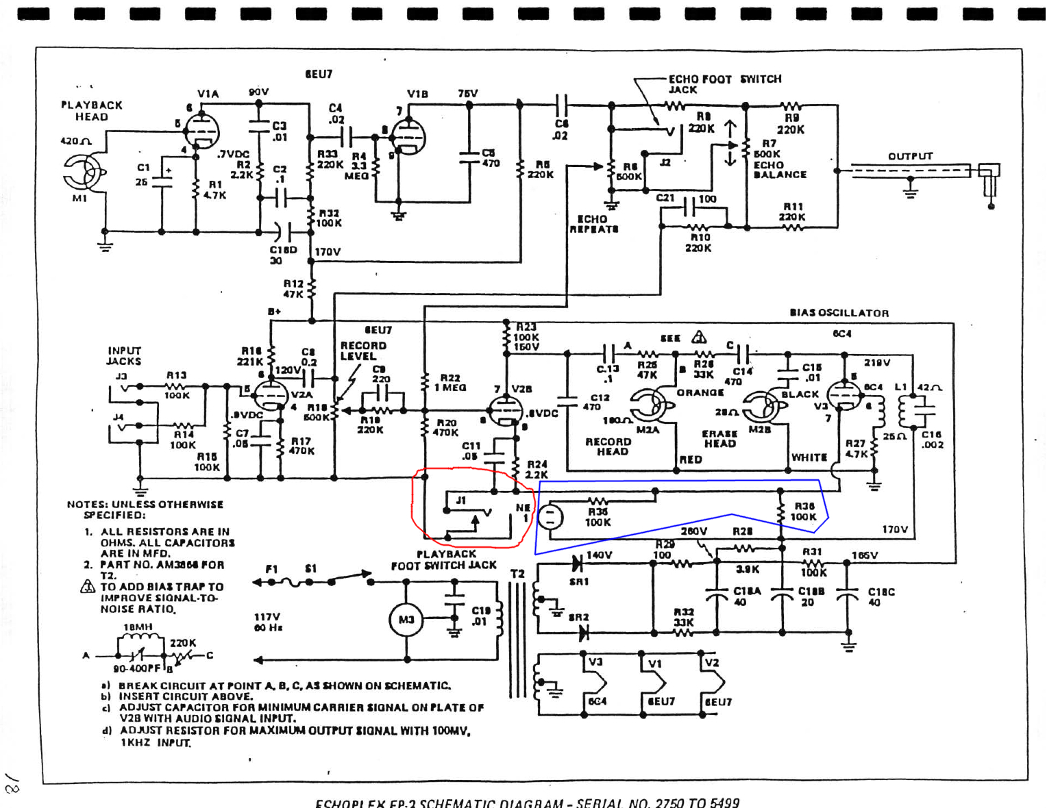 Echoplex Build Thread Picture Of Building The Oscillator Circuits This May Be Irrelevant Since Im Using A Different Bias Circuit But Trying To Understand Whats Going On In Original Schematic Before I