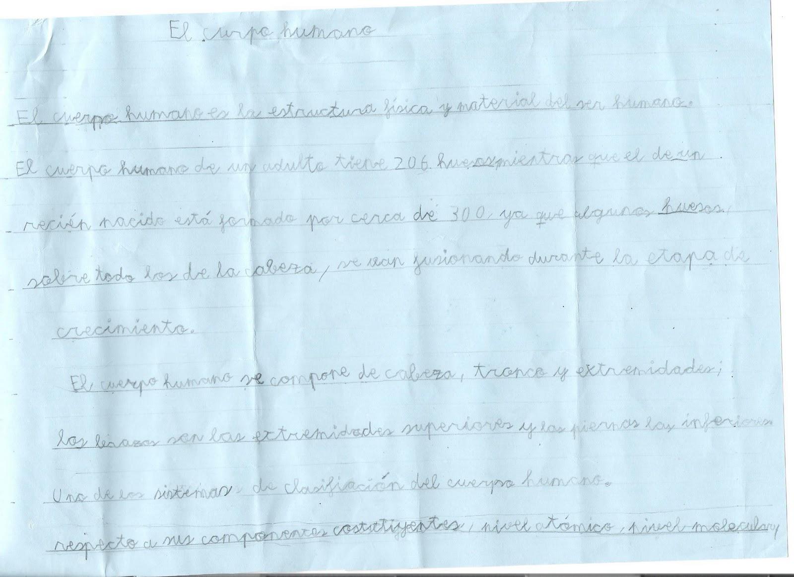 Ceip El Zargal Second Grade El Cuerpo Humano Mostafa