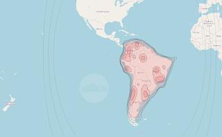 Footprints and Beam Coverage Satellite Hispasat 74W-1 73.9°W KU Band