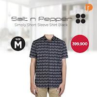 Dusdusan Salt N Pepper Simply Short Sleeve Shirt Size M Black ANDHIMIND