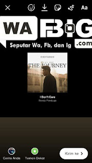 Cara membuat instastory spotify dengan background