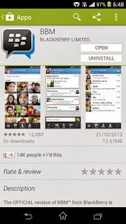 BBM for Android now for download on the Google Play Store