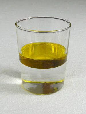 oil and water mix together