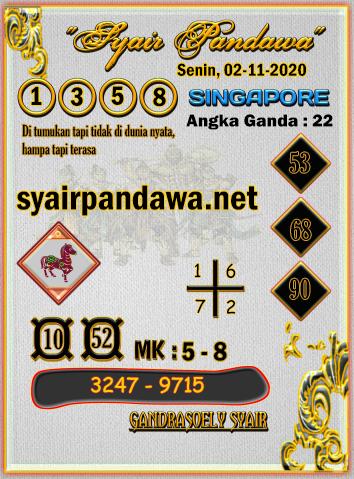 Syair Pandawa Sgp senin 02 november 2020