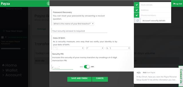 cara membuat ke amanan akun di situs payza