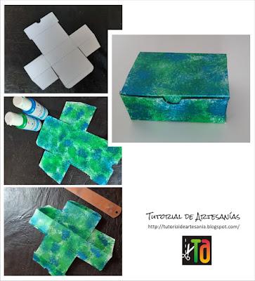 Paso a paso decoración y armado de caja rectangular, Tutorial de Artesania