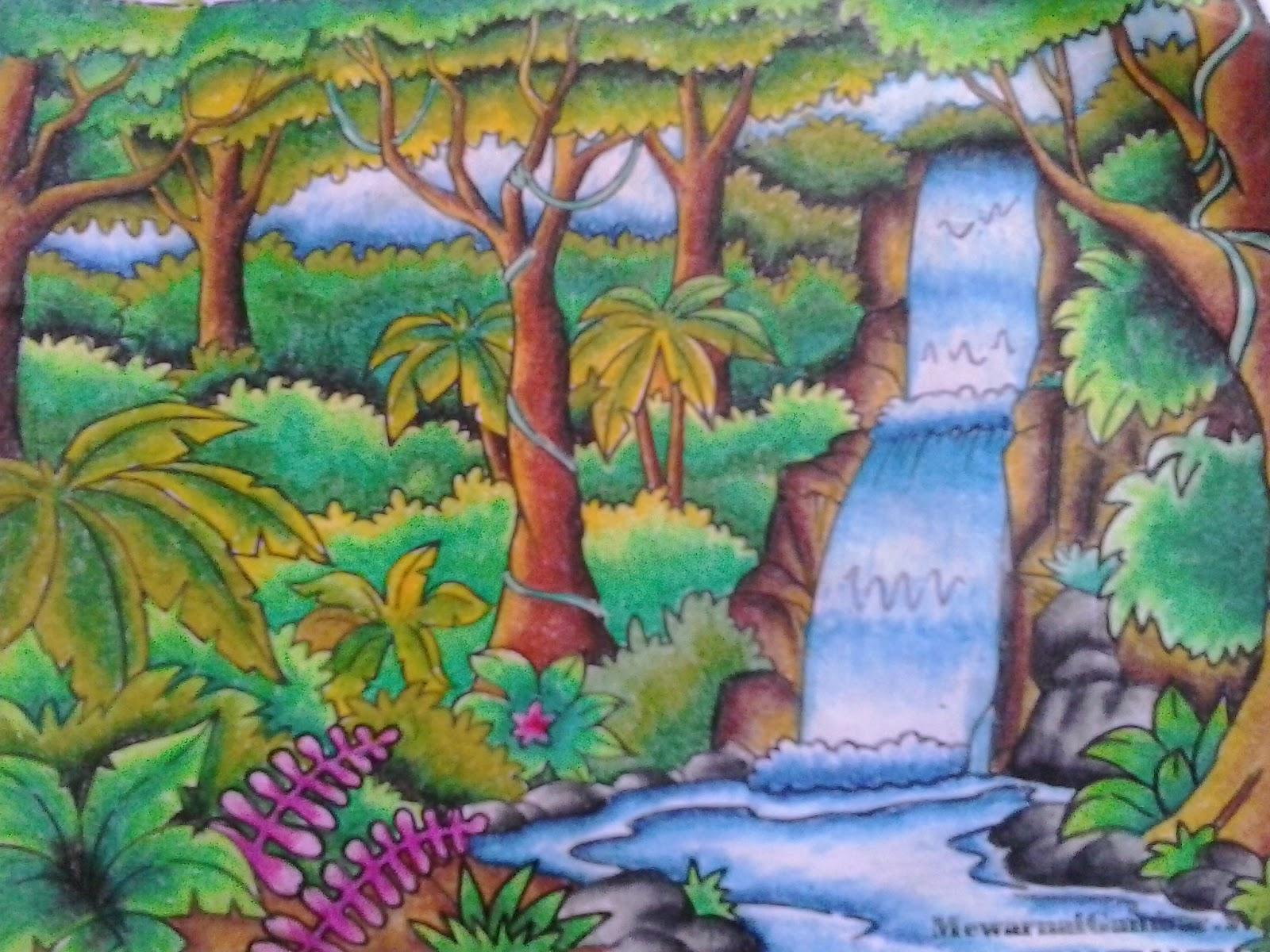 Download Gambar Sketsa Pemandangan Menggunakan Crayon