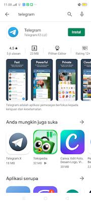 panduan instal aplikasi telegram