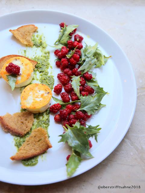 Salat vom Erdbeerspinat
