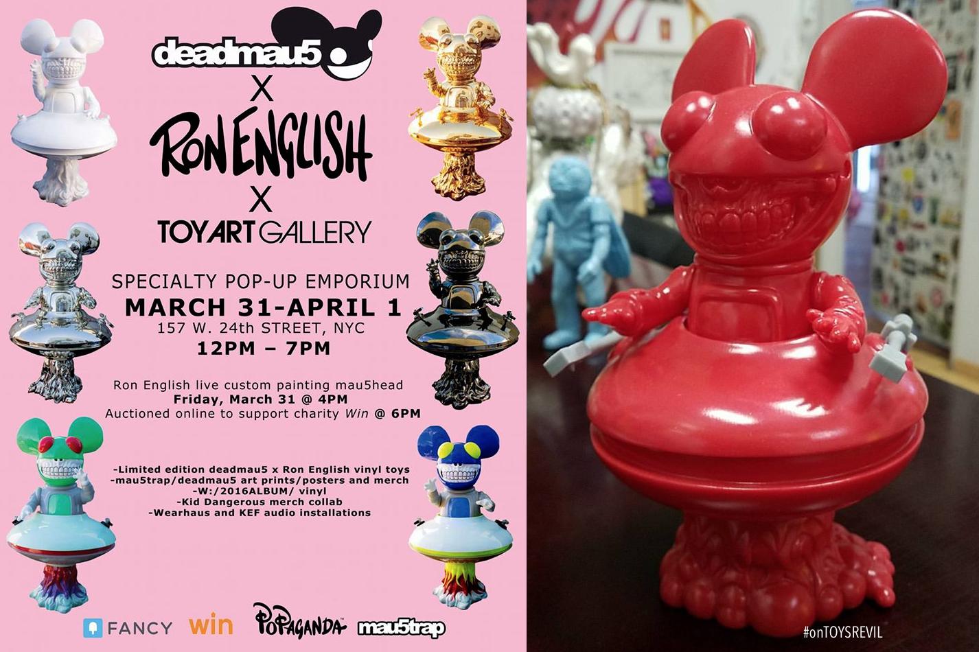 DEADMAU5 GRIN By Deadmau5 X Ron English Toy Art Gallery