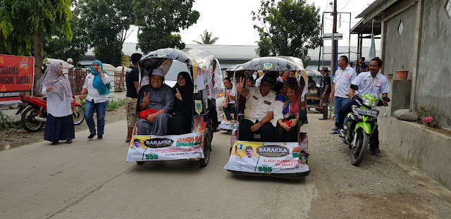 Di Mannagae, BARAKKA di Arak Naik Bemor Menuju Lokasi Kampanye