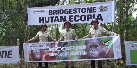 Bridgestone Sumbang Ban Offroad untuk Operasional Pelestarian Orangutan