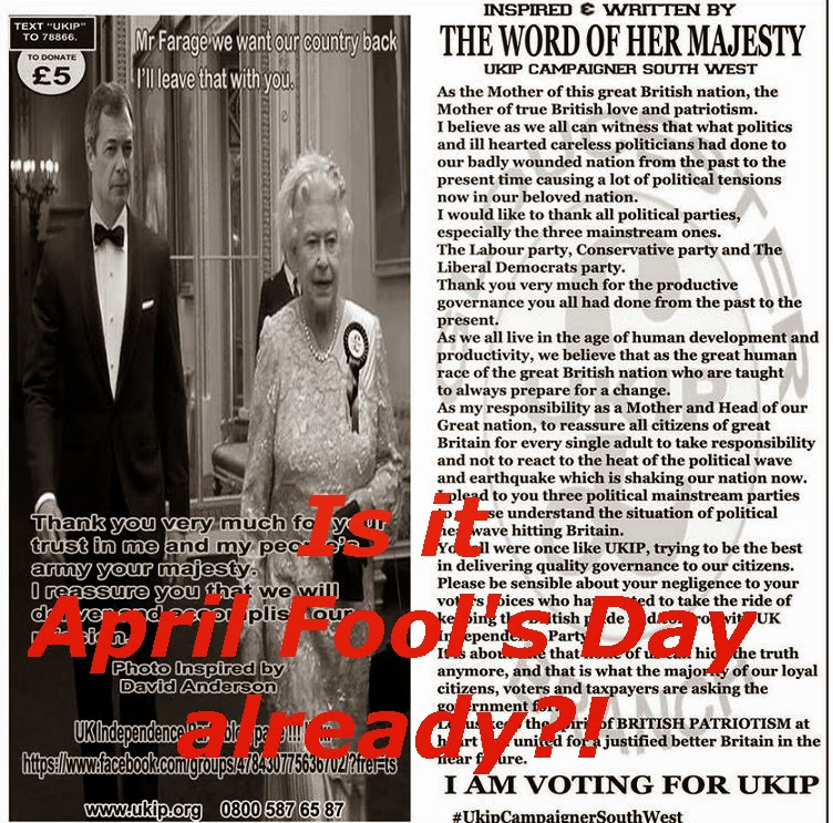 Nigel Farage and The Queen of England in Photoshopped UKIP meme