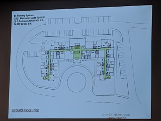 building layout captured during presentation to Town Council, May 8